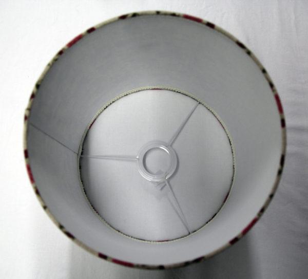 abat-jour contrecollé en lin sur polyphane