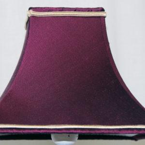 abat-jour pagode carré tissu tendu