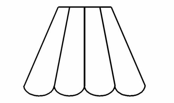 pagode 8 pans feston bas