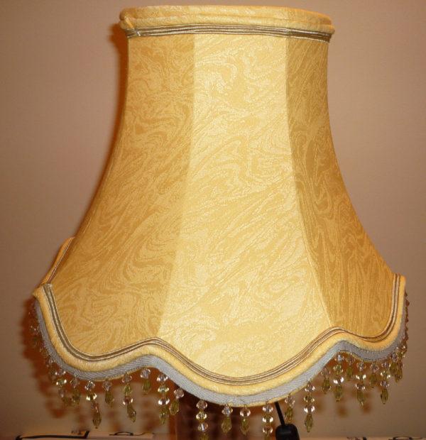 pagode jaune feston bas 6 pans