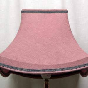 carré pagode lin rose à bandeau feston