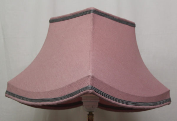 carré pagode rose en lin